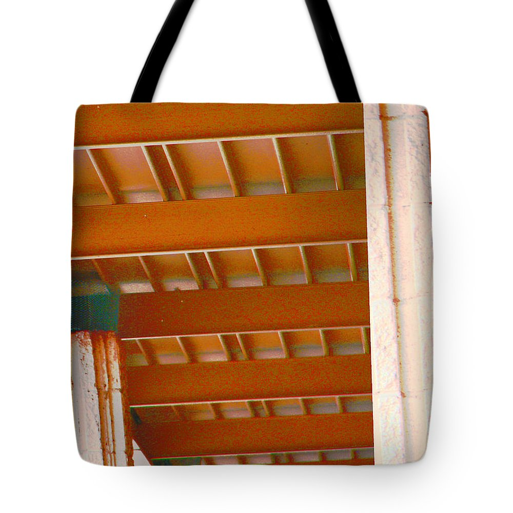 Abstract Tote Bag featuring the digital art Abstract At Albertsons by Lenore Senior