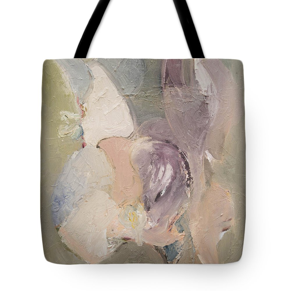 Abstract Tote Bag featuring the painting Abstract Aviary by Craig Newland