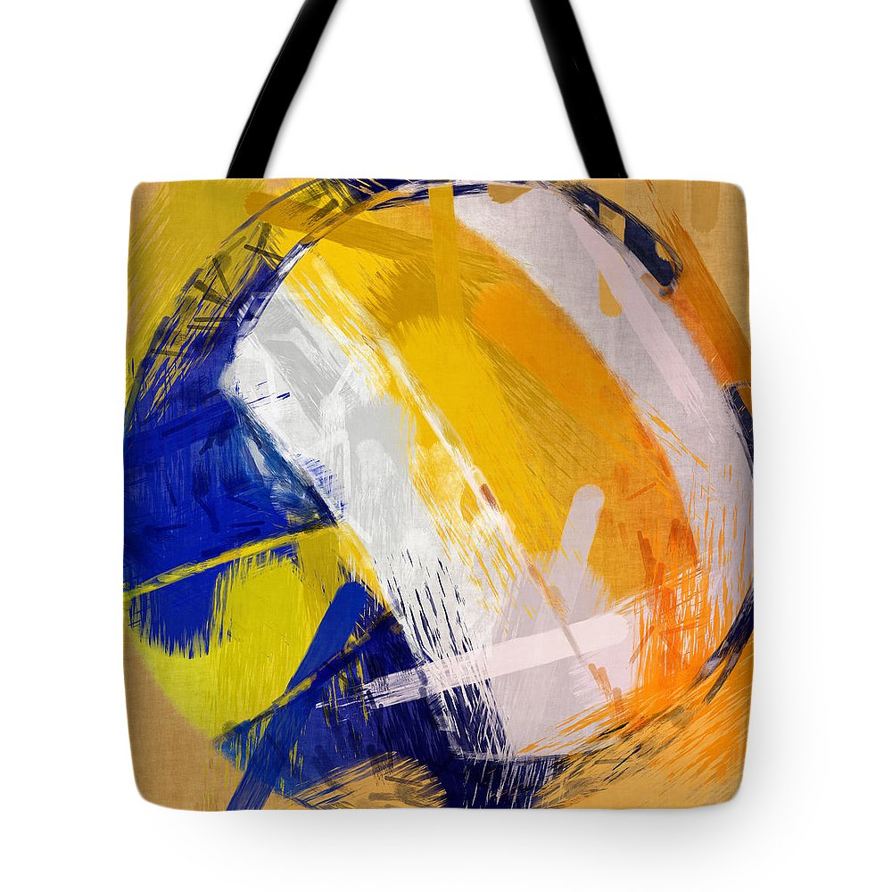 Abstract Tote Bag featuring the photograph Abstract Beach Volleyball by David G Paul