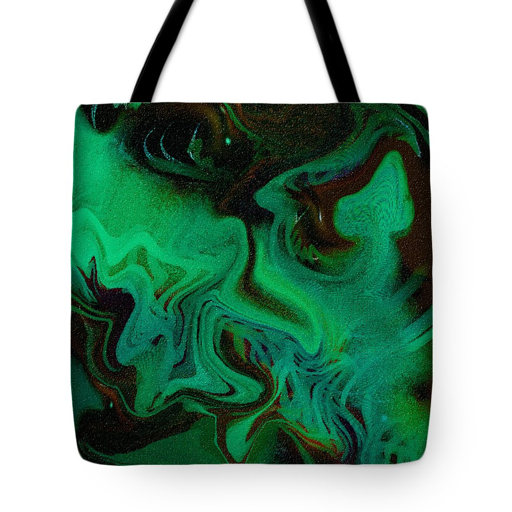 Abstract Design Tote Bag featuring the digital art Digital Picture Abstract Bq166 by Oleg Trifonov
