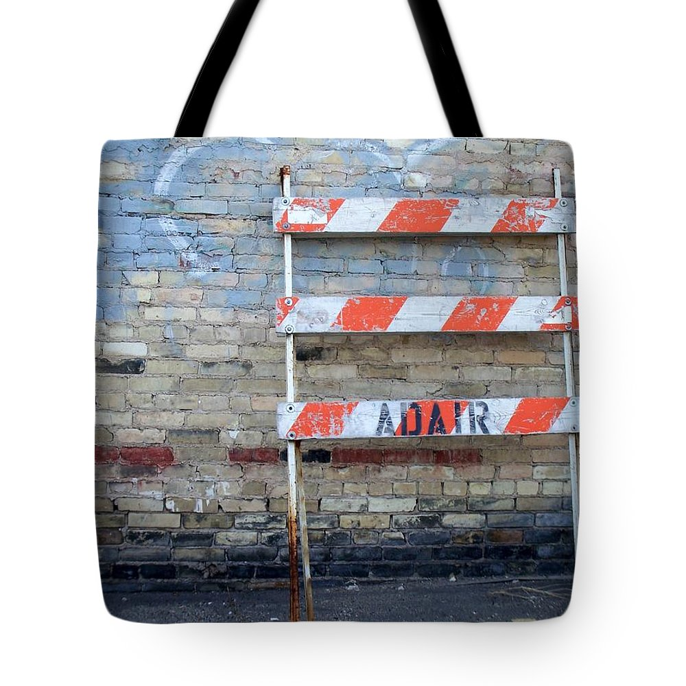 Industrial Tote Bag featuring the photograph Abstract Brick 1 by Anita Burgermeister