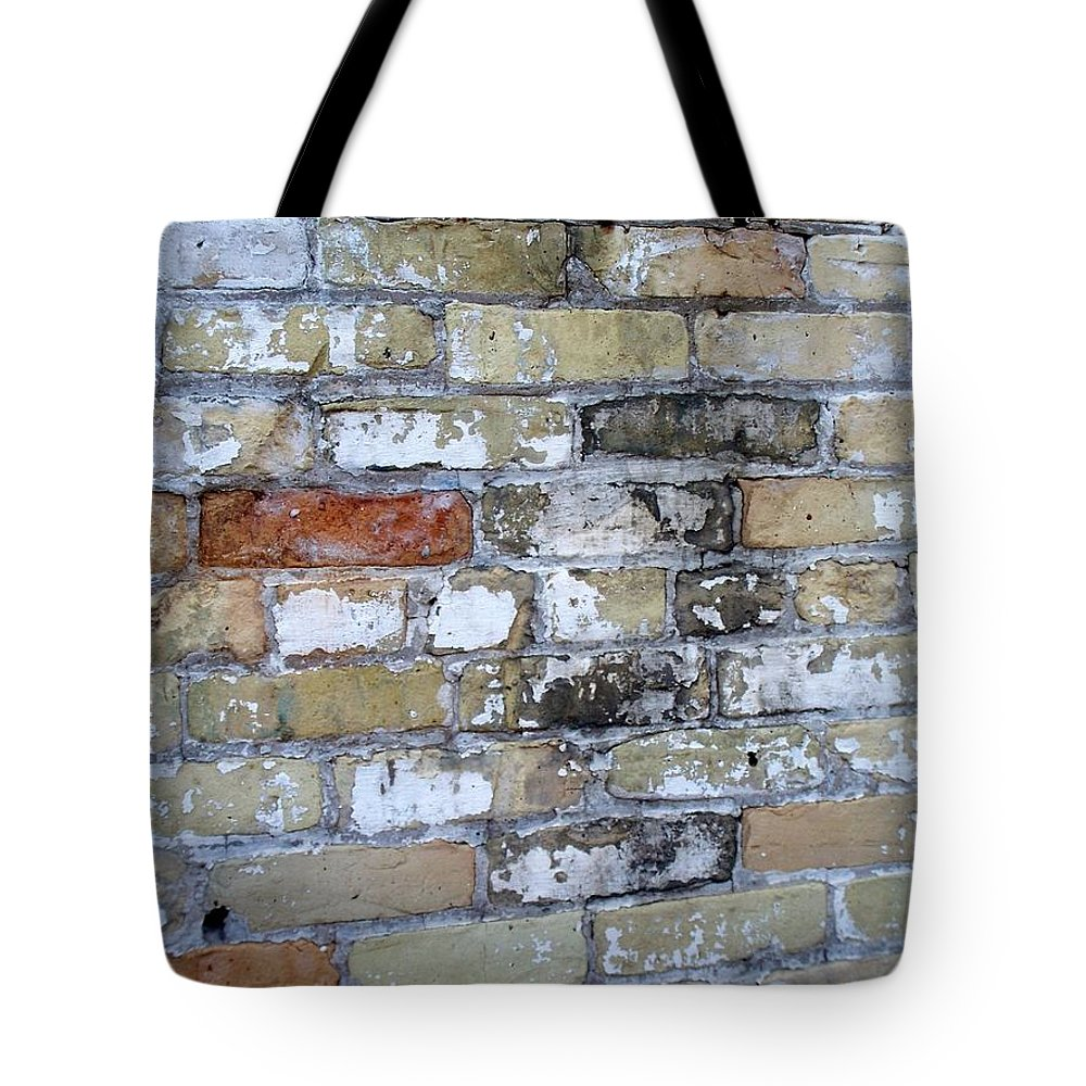 Industrial Tote Bag featuring the photograph Abstract Brick 10 by Anita Burgermeister