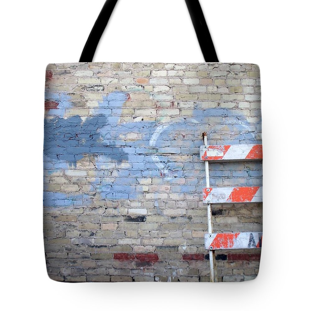 Industrial Tote Bag featuring the photograph Abstract Brick 2 by Anita Burgermeister
