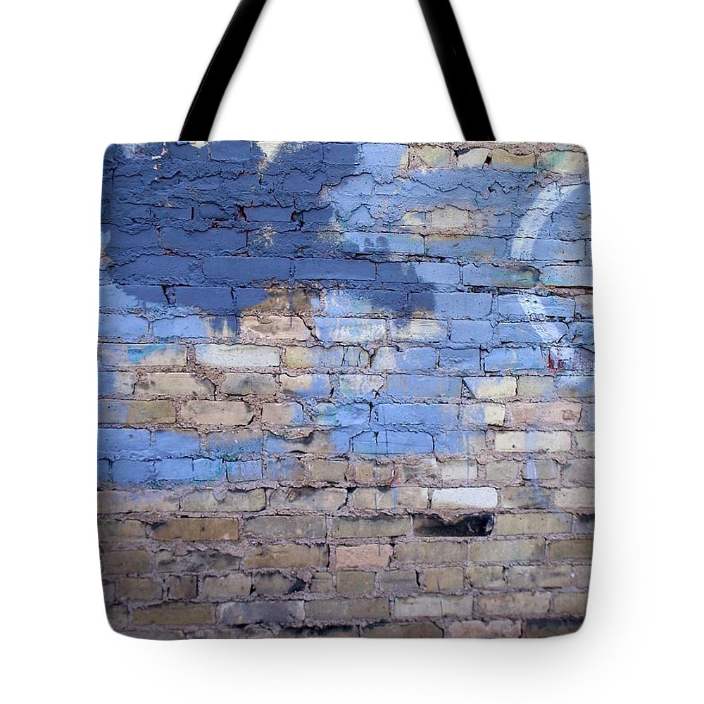 Industrial Tote Bag featuring the photograph Abstract Brick 3 by Anita Burgermeister