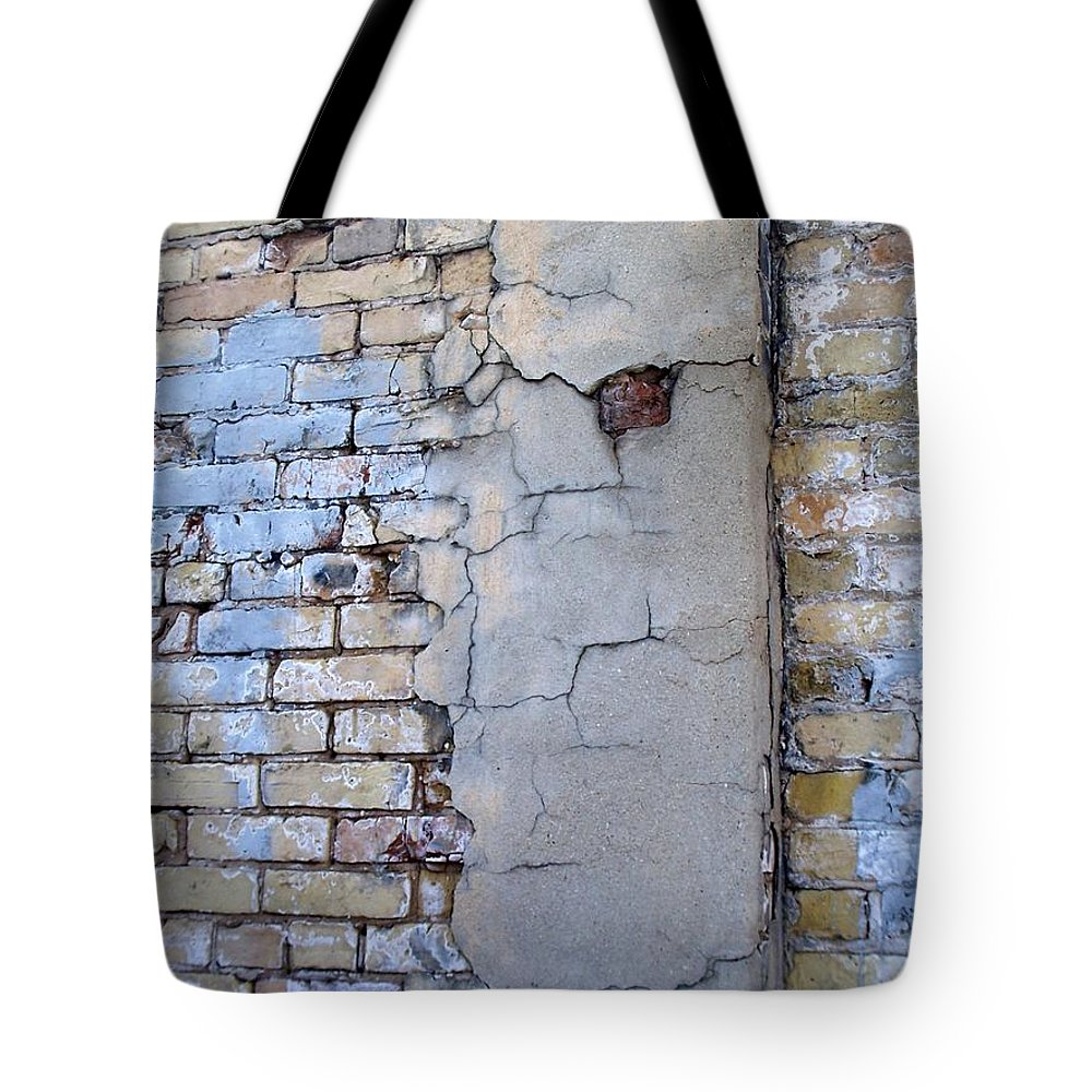 Industrial Tote Bag featuring the photograph Abstract Brick 4 by Anita Burgermeister