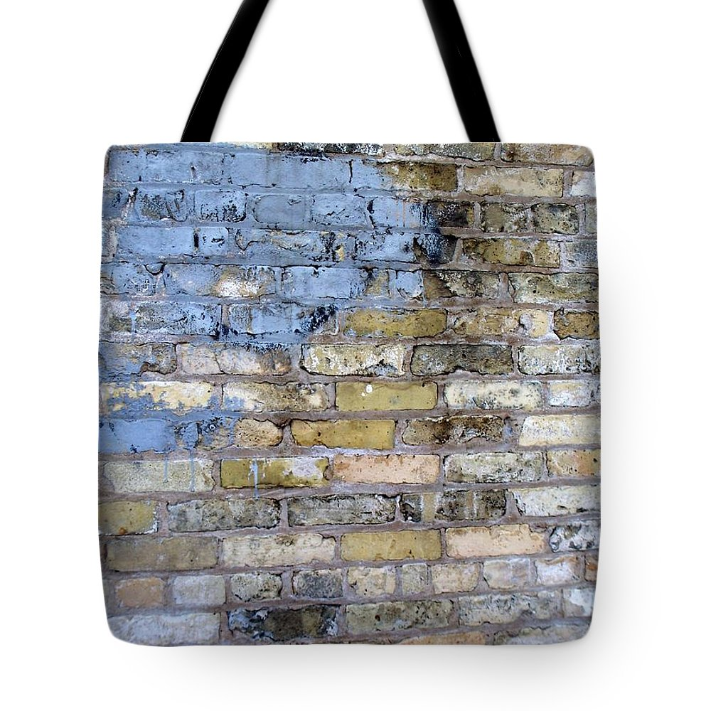 Industrial Tote Bag featuring the photograph Abstract Brick 6 by Anita Burgermeister