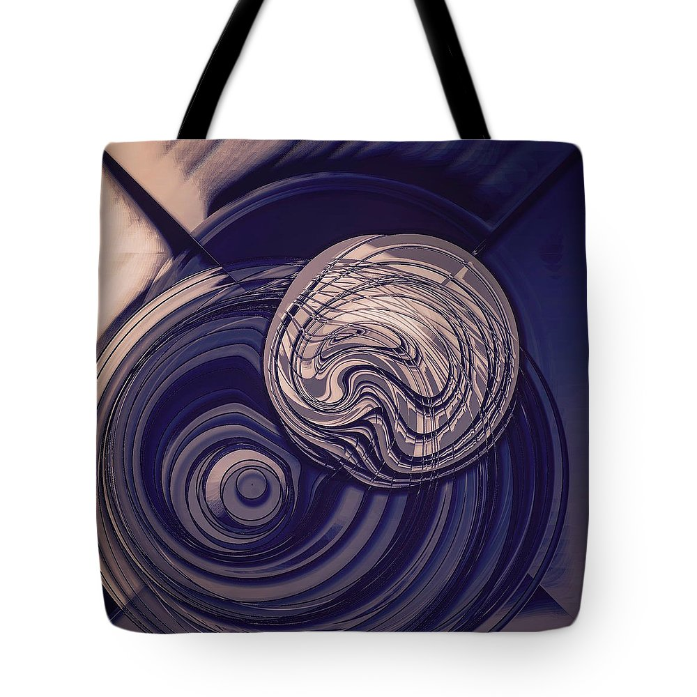 Bubbles Tote Bag featuring the digital art Abstract Bubbles by Marko Sabotin