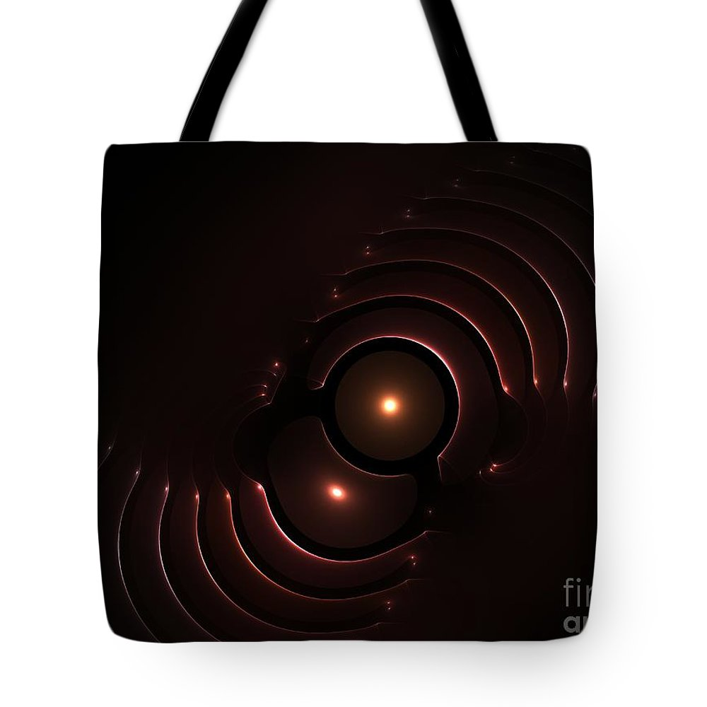 Abstract Tote Bag featuring the digital art Abstract Chromeart by Steve K