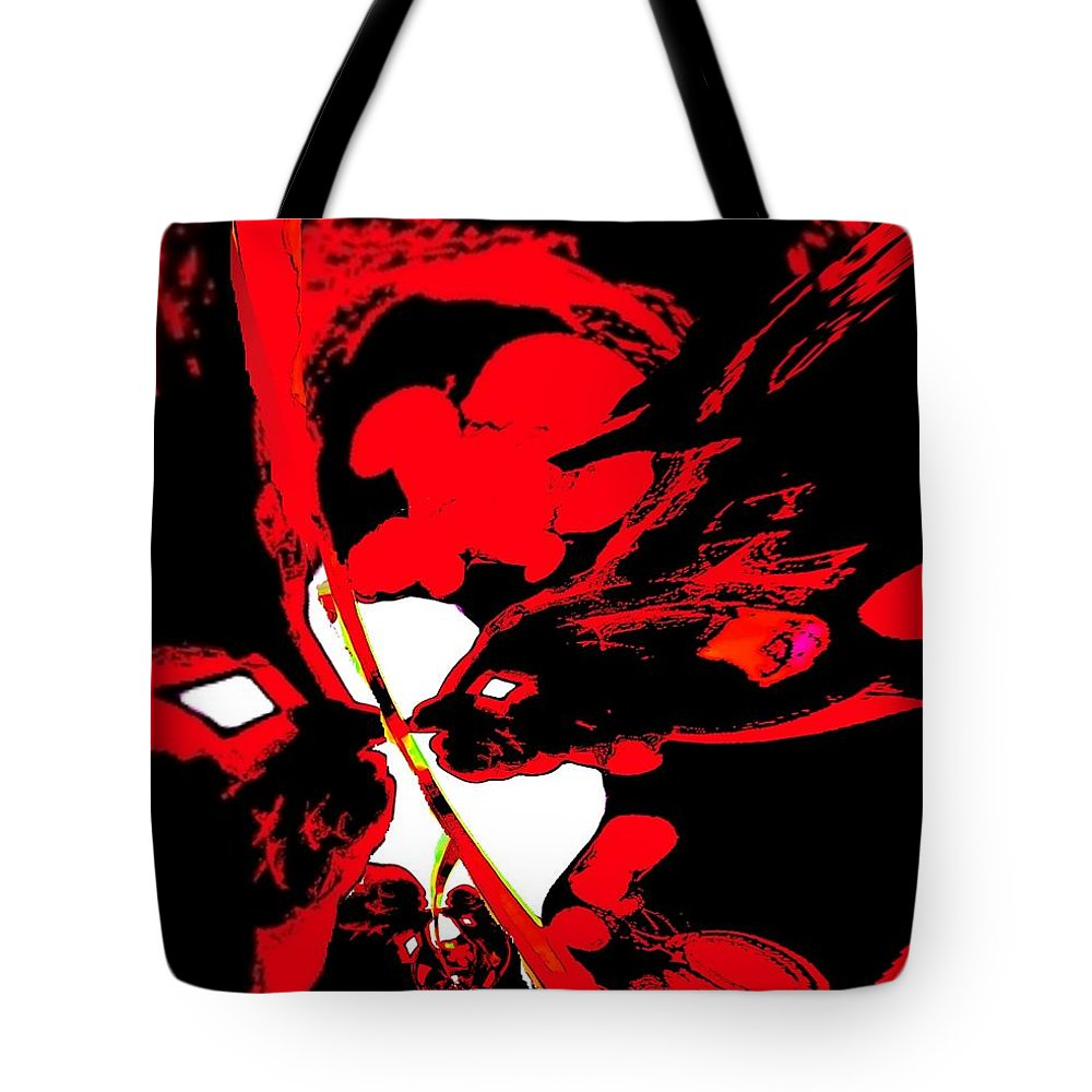 Abstract Art Tote Bag featuring the painting Abstract by Cliff Wilson
