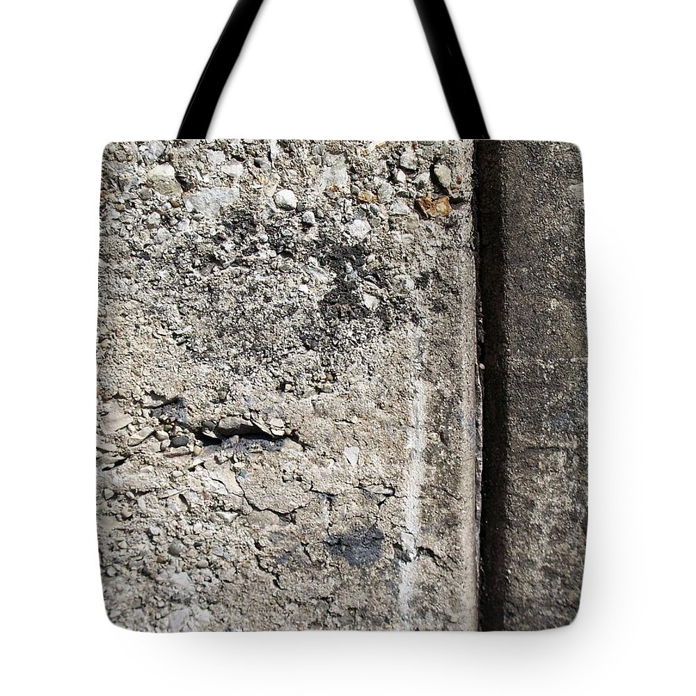 Industrial. Urban Tote Bag featuring the photograph Abstract Concrete 16 by Anita Burgermeister