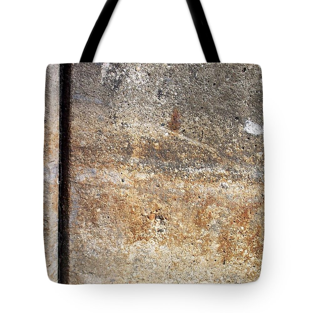 Industrial. Urban Tote Bag featuring the photograph Abstract Concrete 17 by Anita Burgermeister