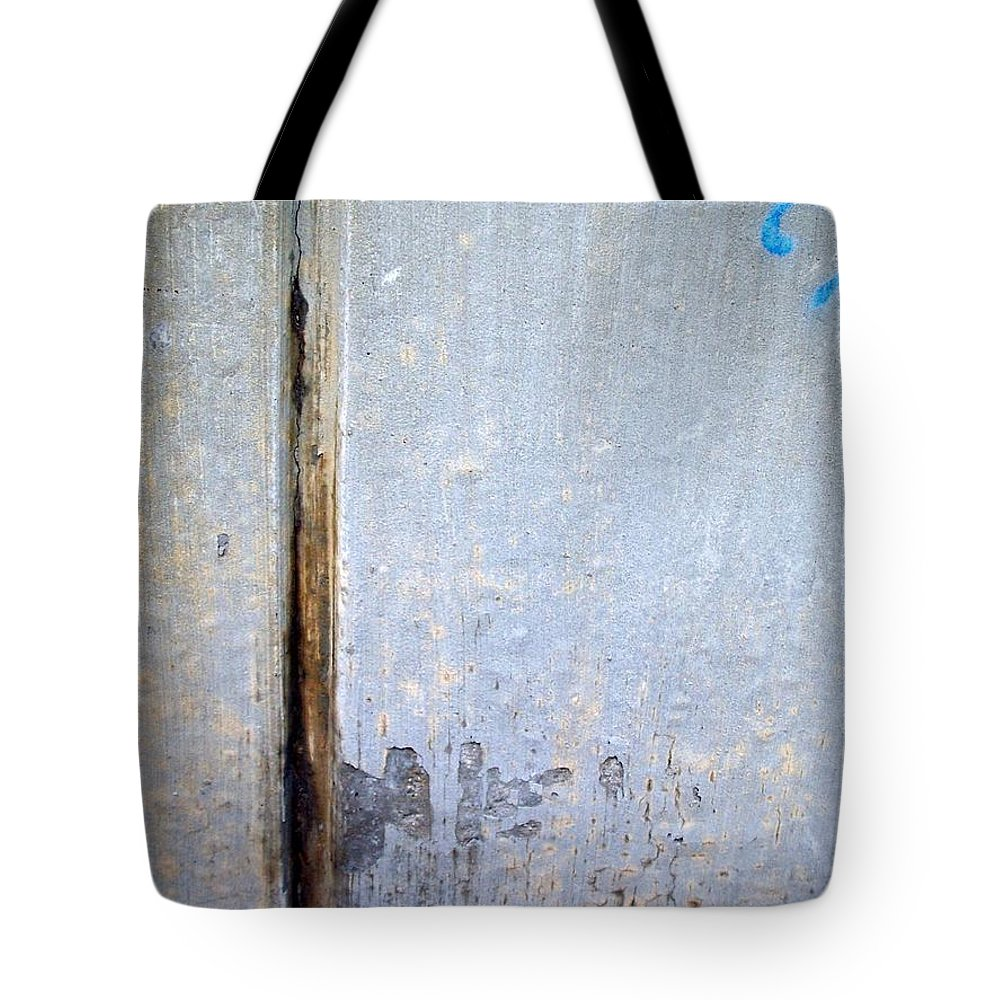 Industrial. Urban Tote Bag featuring the photograph Abstract Concrete 19 by Anita Burgermeister