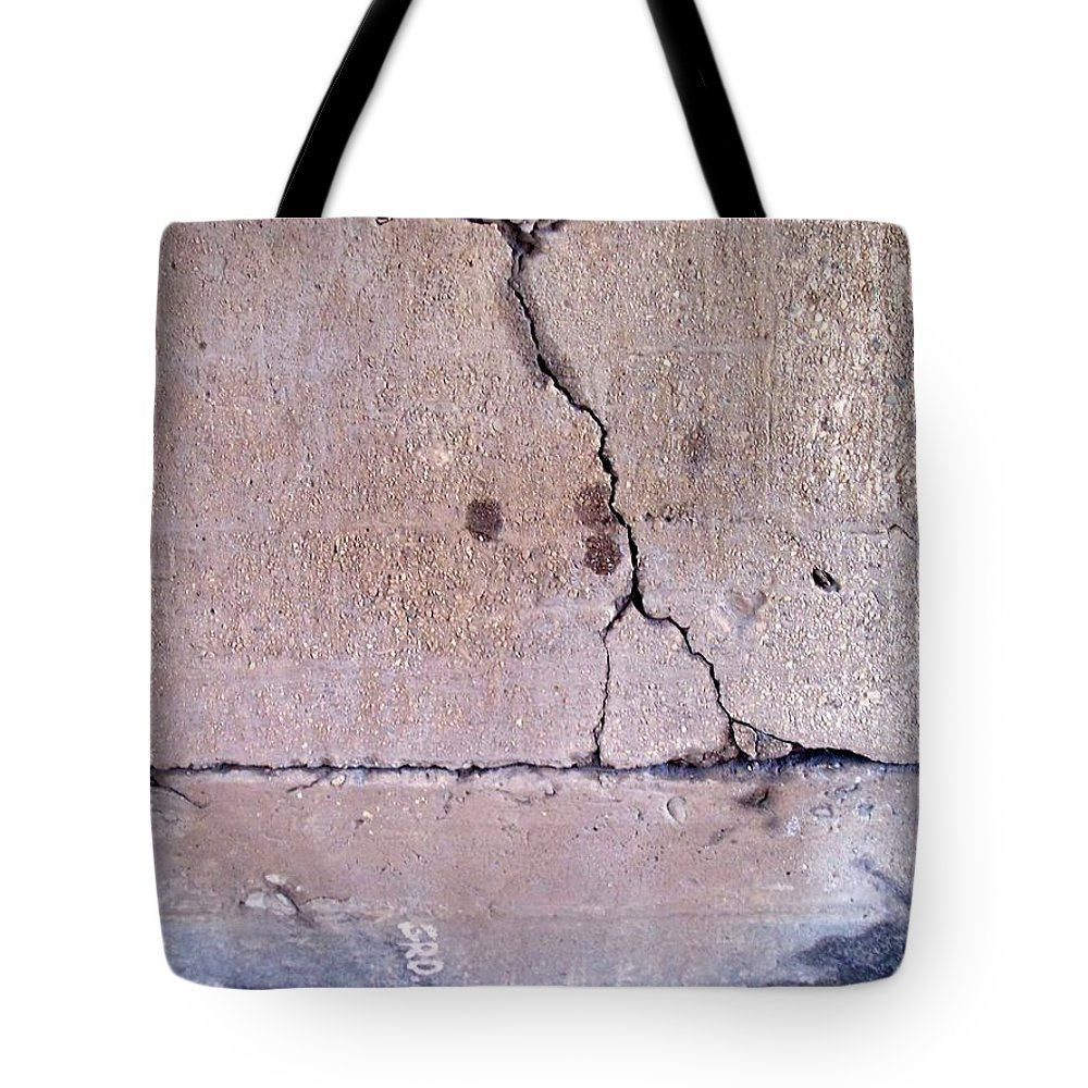 Industrial. Urban Tote Bag featuring the photograph Abstract Concrete 3 by Anita Burgermeister