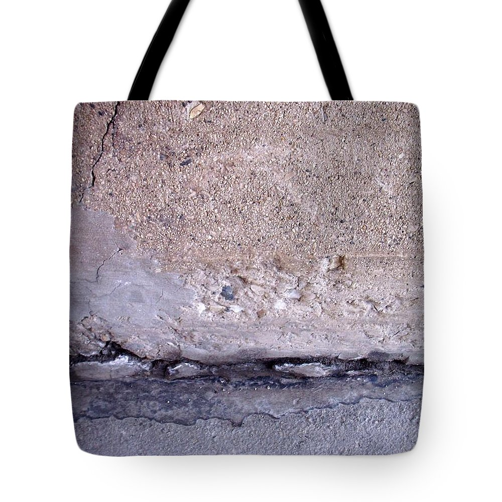 Industrial. Urban Tote Bag featuring the photograph Abstract Concrete 4 by Anita Burgermeister