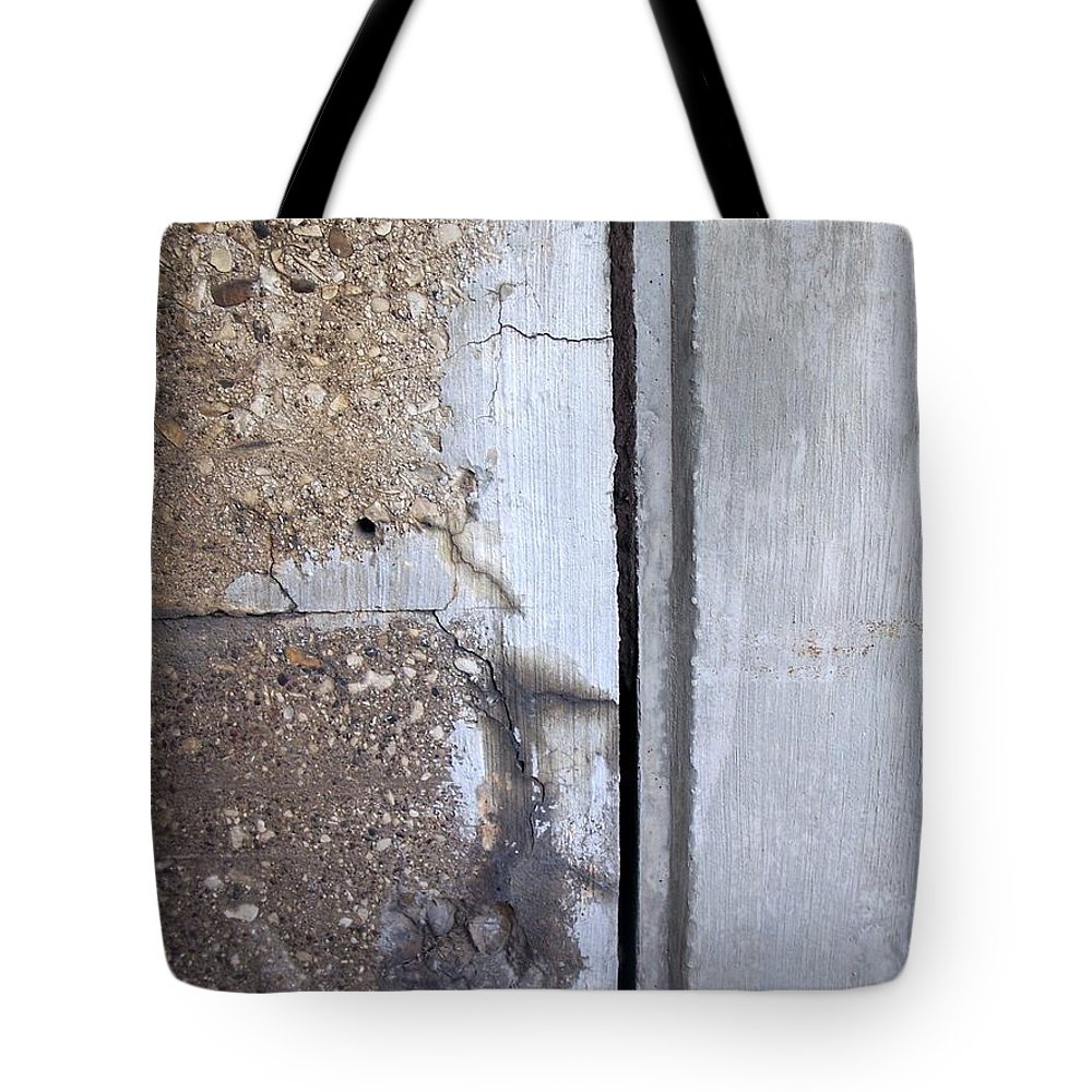 Industrial. Urban Tote Bag featuring the photograph Abstract Concrete 5 by Anita Burgermeister