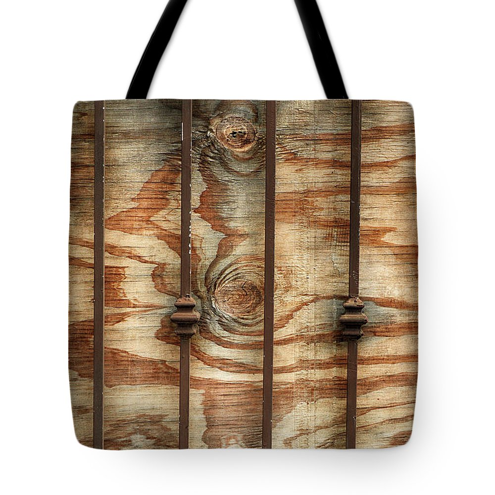 Wooden Tote Bag featuring the photograph Abstract Construction Art by Cate Franklyn