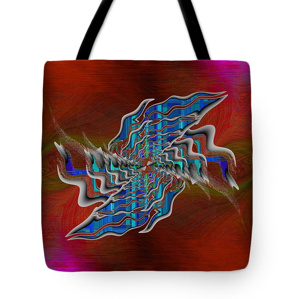 Abstract Tote Bag featuring the digital art Abstract Cubed 271 by Tim Allen