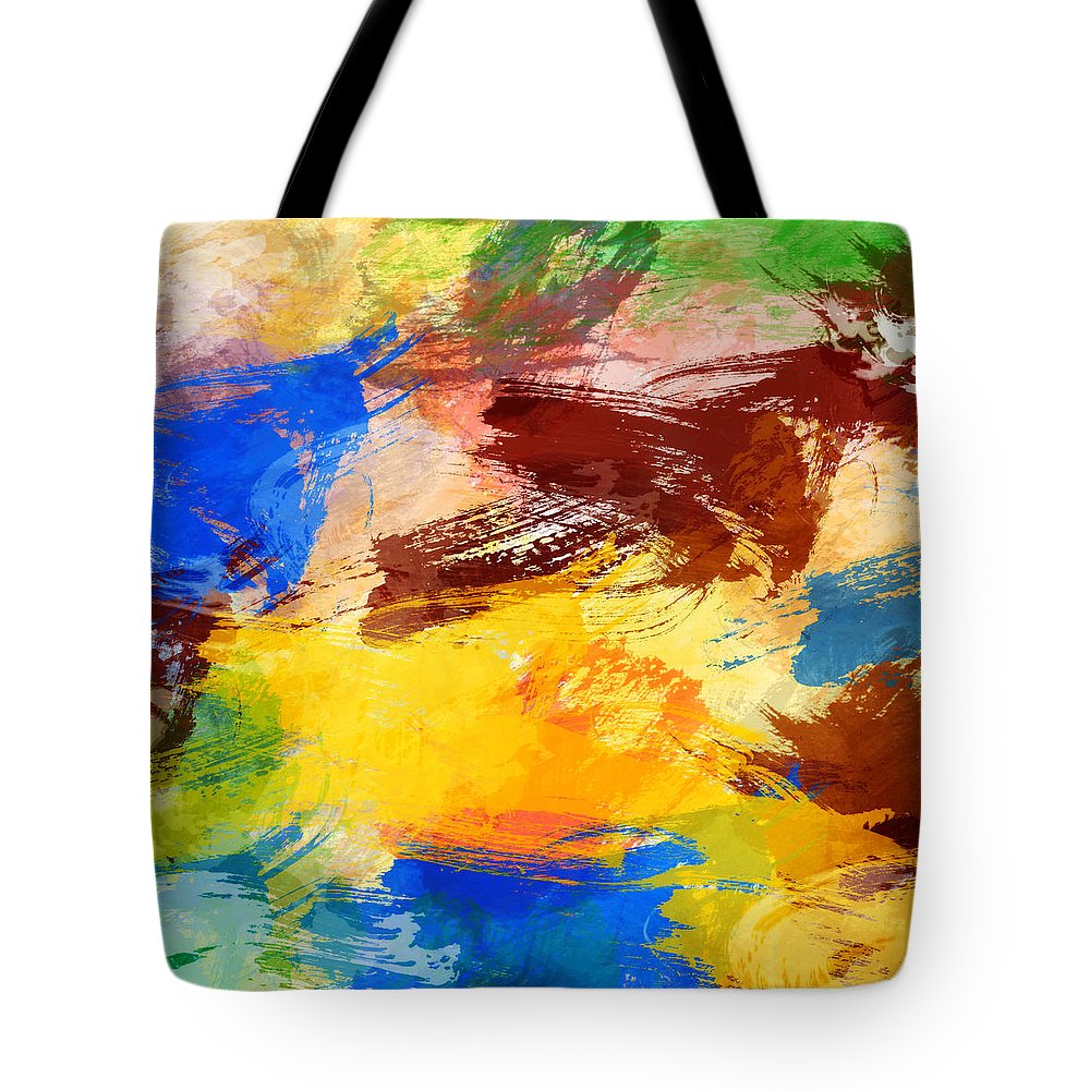Abstract Tote Bag featuring the digital art Abstract by Denis Borodin