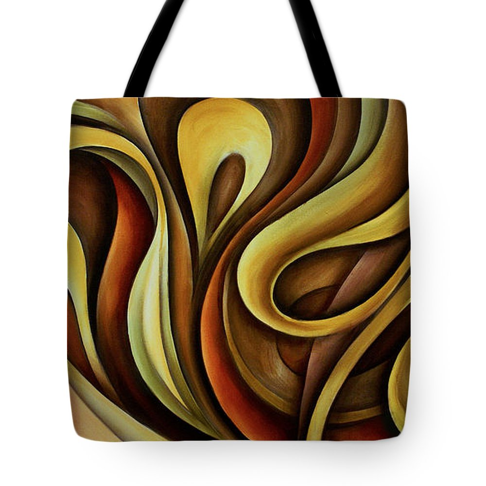Abstract Art Tote Bag featuring the painting Abstract Design 11 by Michael Lang