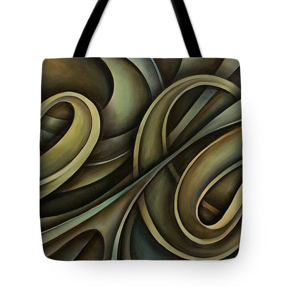 Abstract Art Tote Bag featuring the painting Abstract Design 12 by Michael Lang