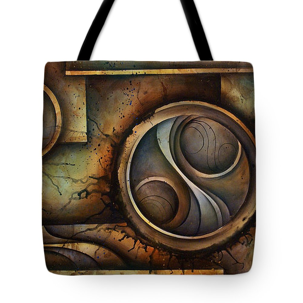 Abstract Art Tote Bag featuring the painting Abstract Design 13 by Michael Lang