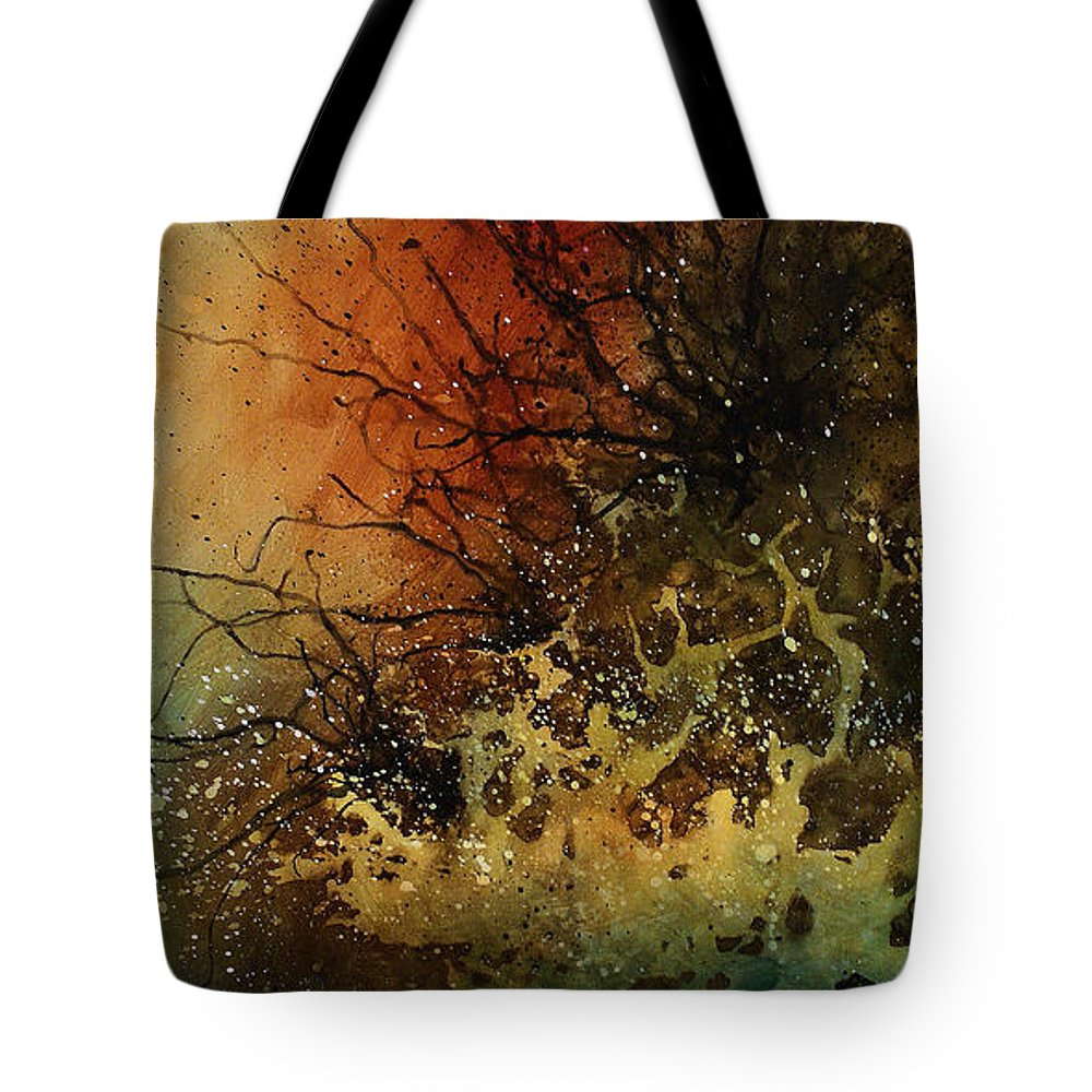 Abstract Art Tote Bag featuring the painting Abstract Design 14 by Michael Lang