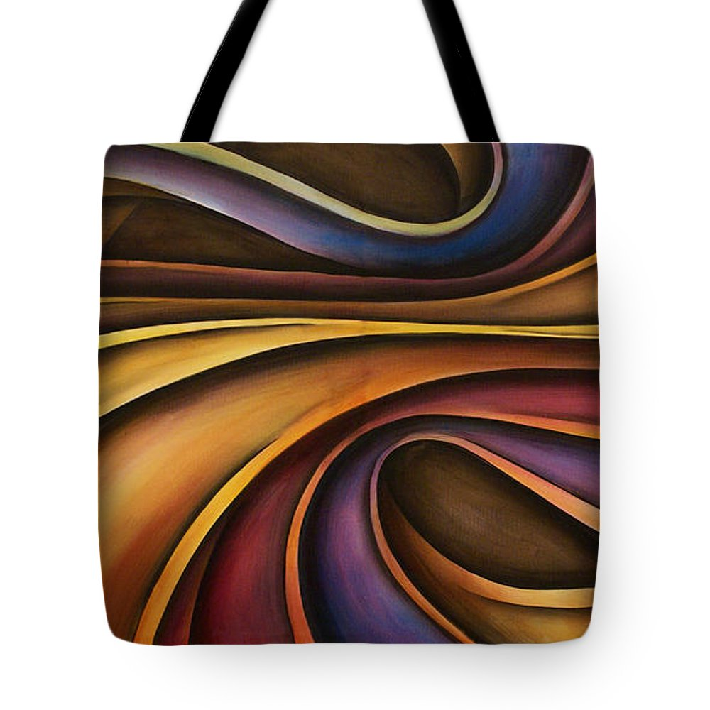 Abstract Art Tote Bag featuring the painting Abstract Design 15 by Michael Lang