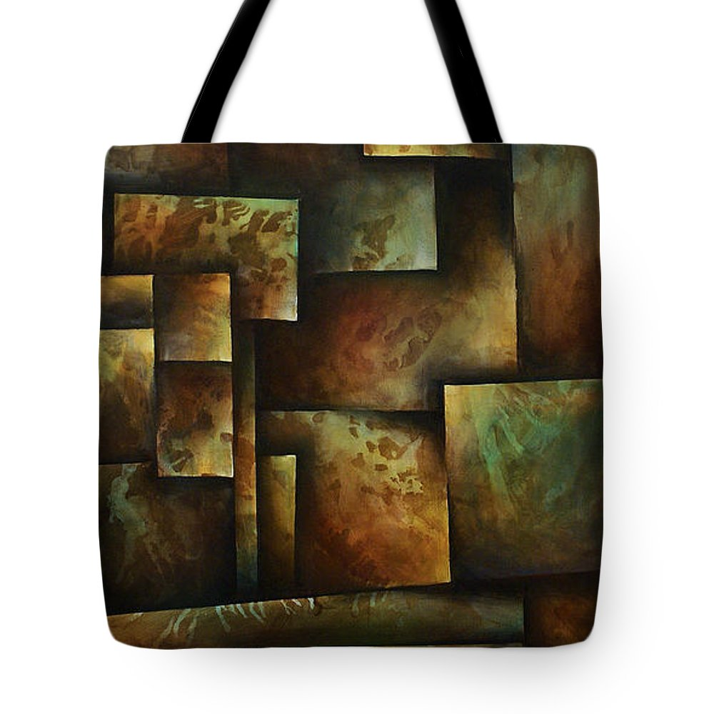 Abstract Art Tote Bag featuring the painting Abstract Design 16 by Michael Lang