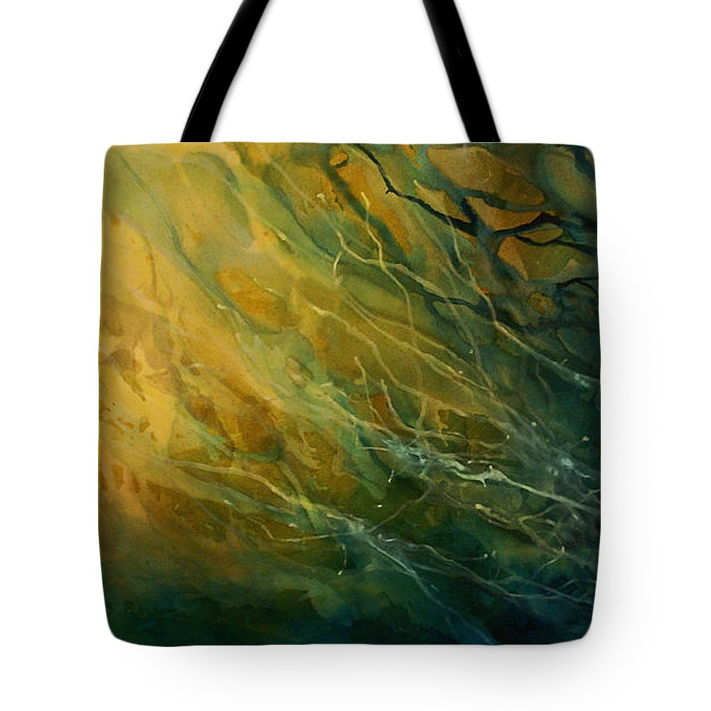 Abstract Art Tote Bag featuring the painting Abstract Design 17 by Michael Lang