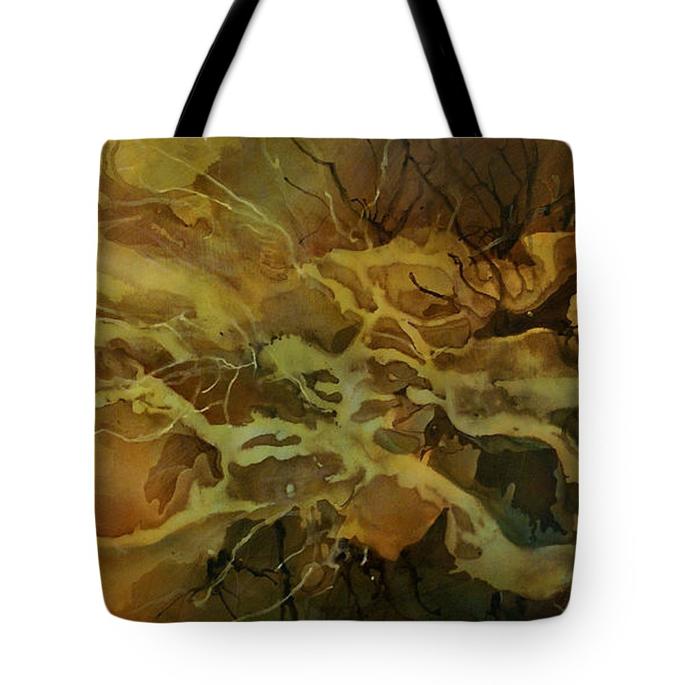 Art Tote Bag featuring the painting Abstract Design 21 by Michael Lang