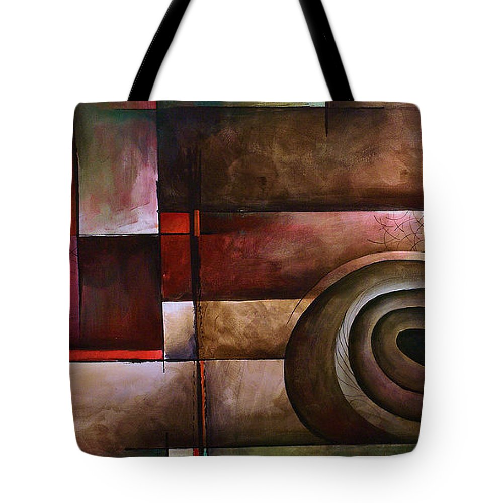 Art Tote Bag featuring the painting Abstract Design 24 by Michael Lang