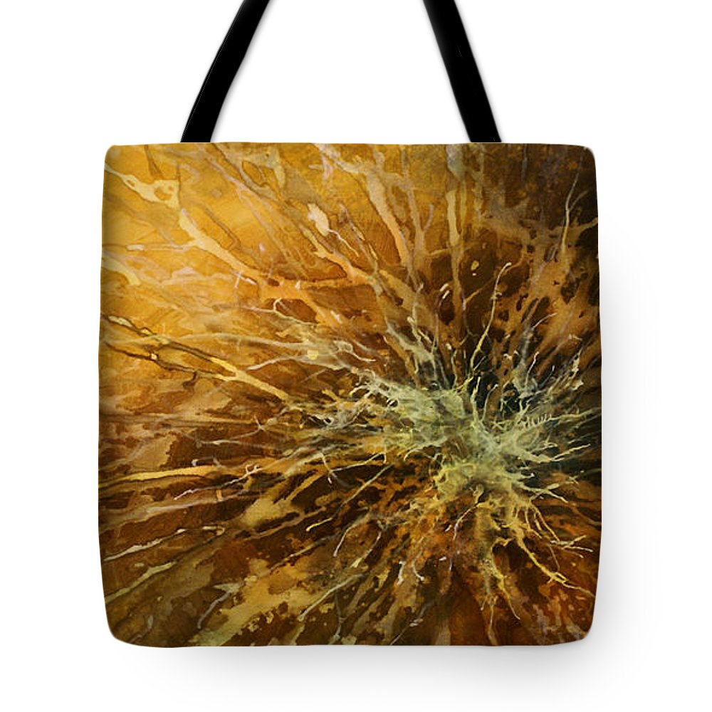 Art Tote Bag featuring the painting Abstract Design 25 by Michael Lang