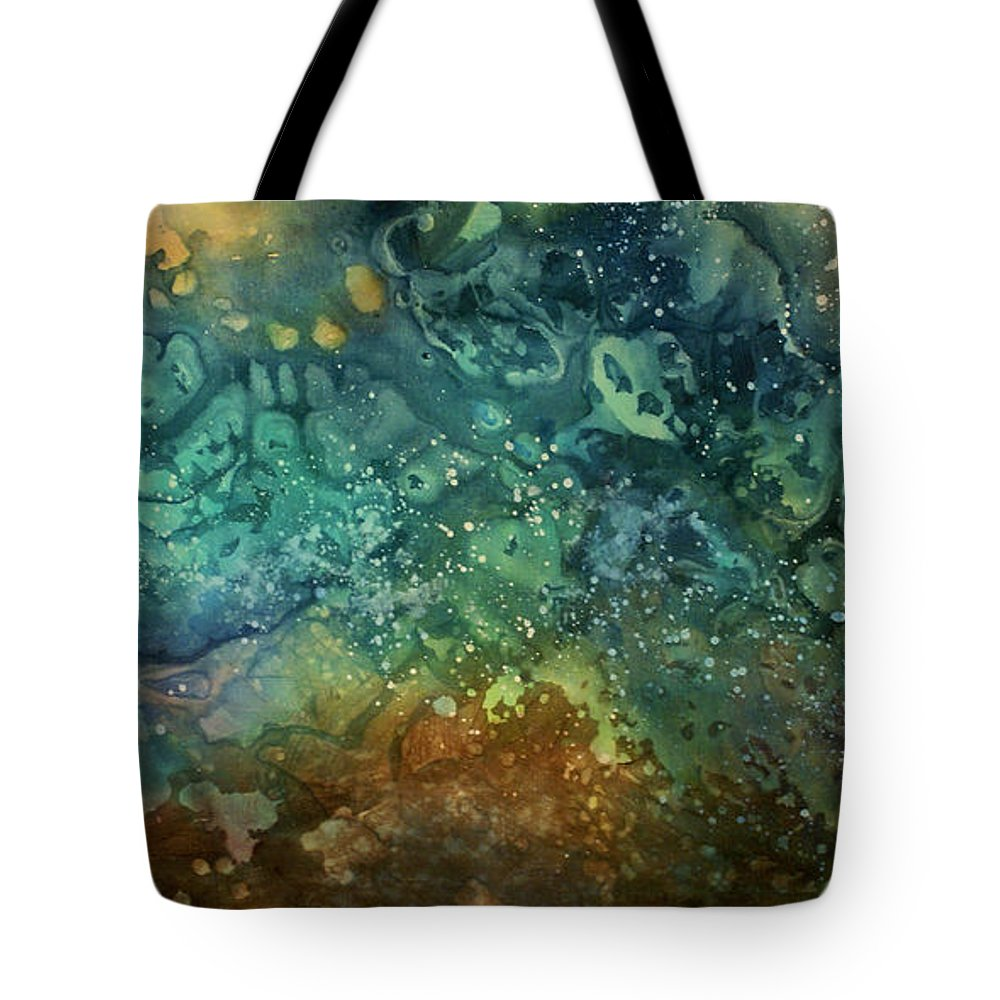 Art Tote Bag featuring the painting Abstract Design 27 by Michael Lang
