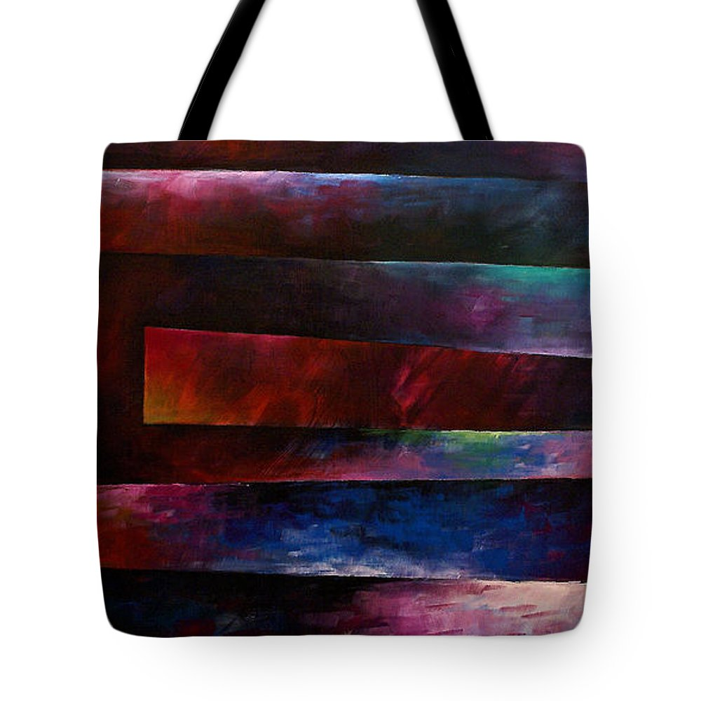 Large Original Painting Abstract Design Tote Bag featuring the painting Abstract Design 3 by Michael Lang