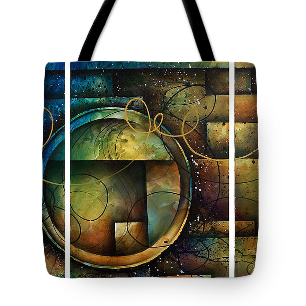 Large Original Painting Abstract Design Tote Bag featuring the painting Abstract Design 4 by Michael Lang