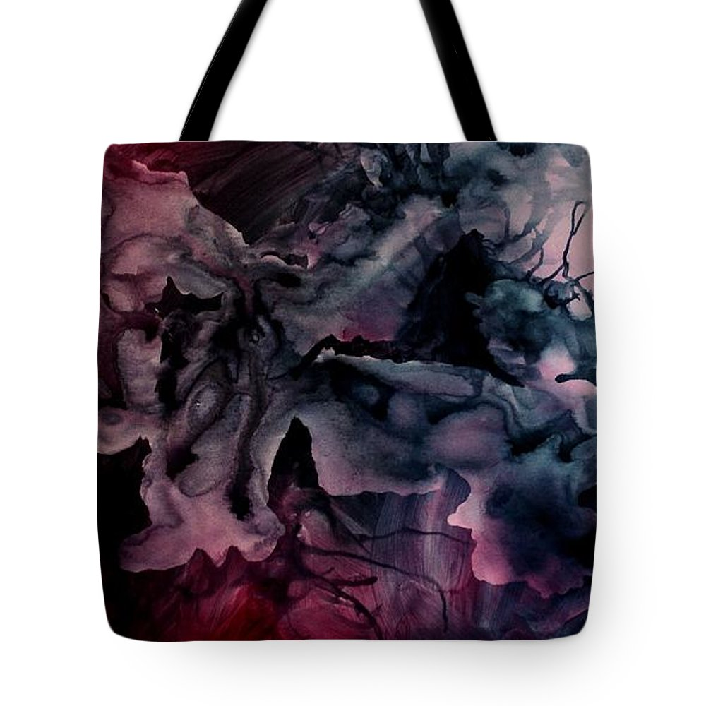 Large Original Painting Abstract Design Tote Bag featuring the painting Abstract Design 5 by Michael Lang