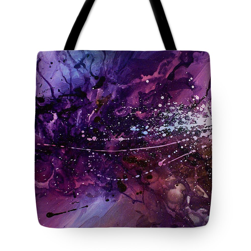 Paintings Tote Bag featuring the painting Abstract Design 66 by Michael Lang