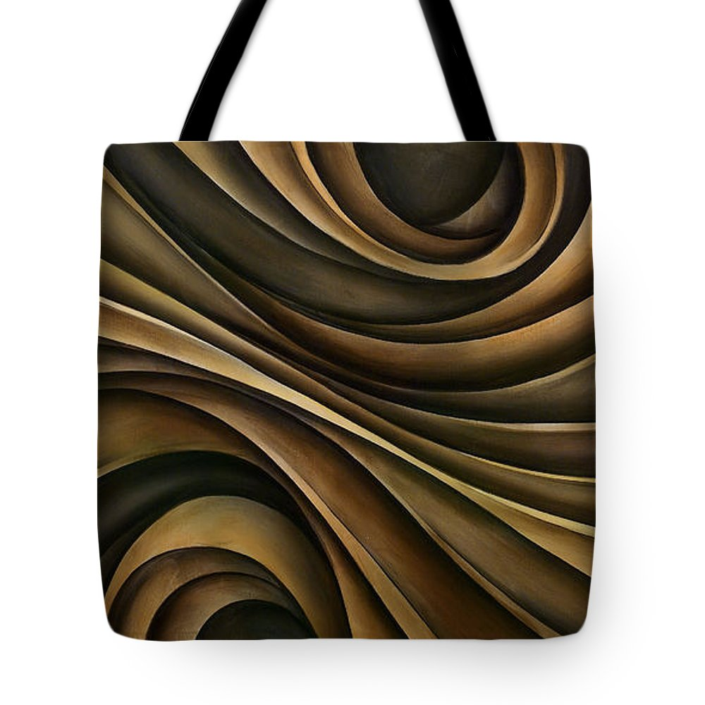 Abstract Art Tote Bag featuring the painting Abstract Design 7 by Michael Lang