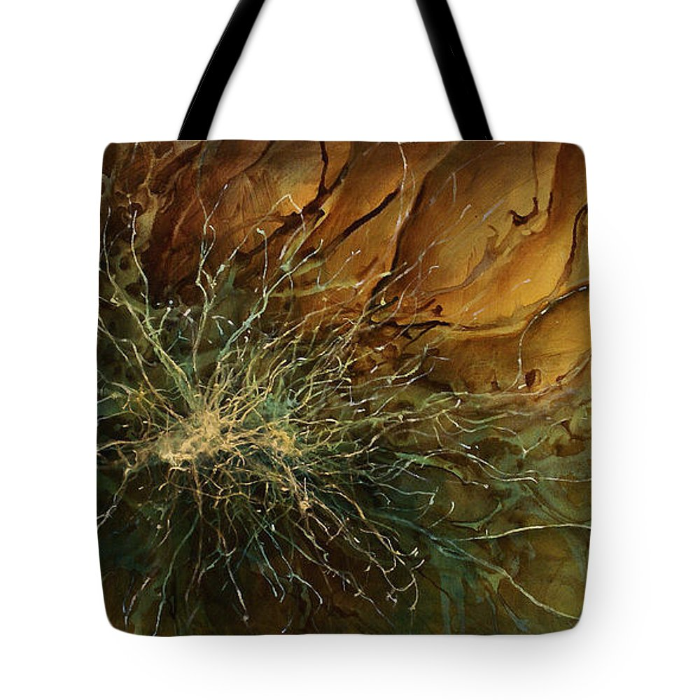 Abstract Art Tote Bag featuring the painting Abstract Design 8 by Michael Lang