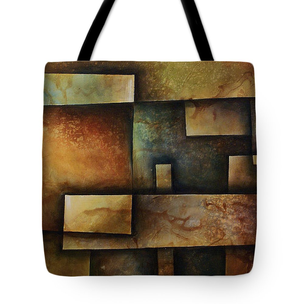 Abstract Art Tote Bag featuring the painting Abstract Design 9 by Michael Lang