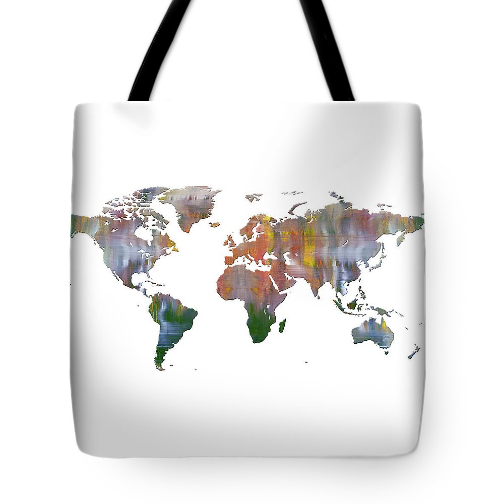 Abstract Tote Bag featuring the mixed media Abstract Earth Art by Doug LaRue