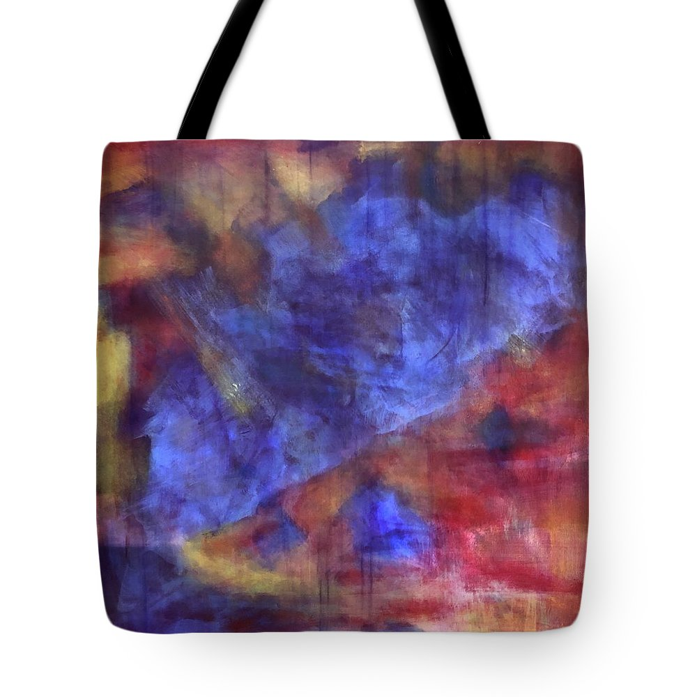 Colorful Tote Bag featuring the painting Abstract Energy by Ron Tango Jr