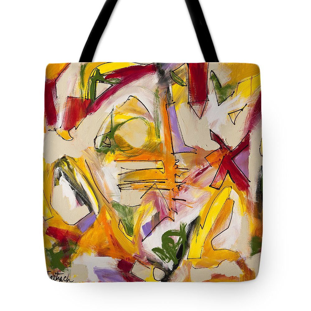Abstract Tote Bag featuring the painting Abstract Expressionism Two by Lynne Taetzsch
