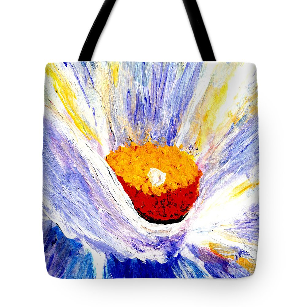 Martha Ann Sanchez Tote Bag featuring the painting Abstract Floral Painting 001 by Mas Art Studio