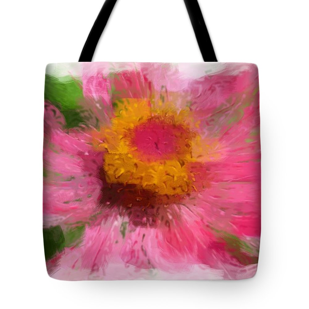 Robyn King Tote Bag featuring the photograph Abstract Flower Expressions by Robyn King