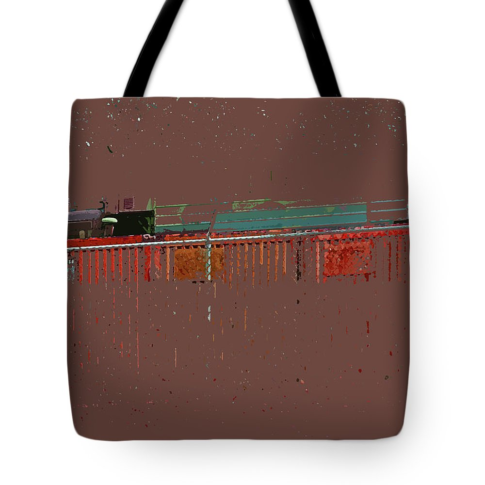 Abstract Tote Bag featuring the digital art Abstract For Viv by Lenore Senior