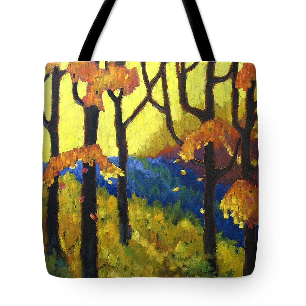 Art Tote Bag featuring the painting Abstract Forest by Richard T Pranke