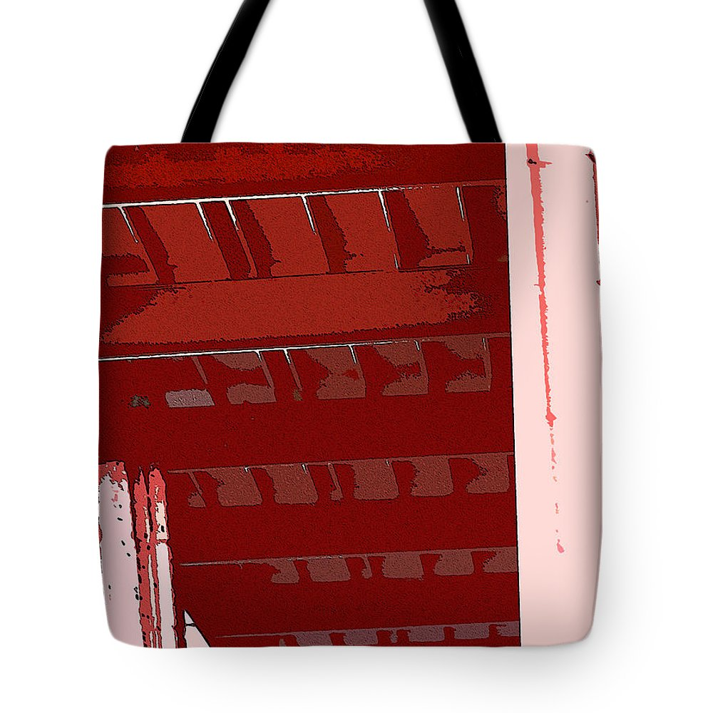 Abstract Tote Bag featuring the digital art Abstract Found At Albertson's by Lenore Senior