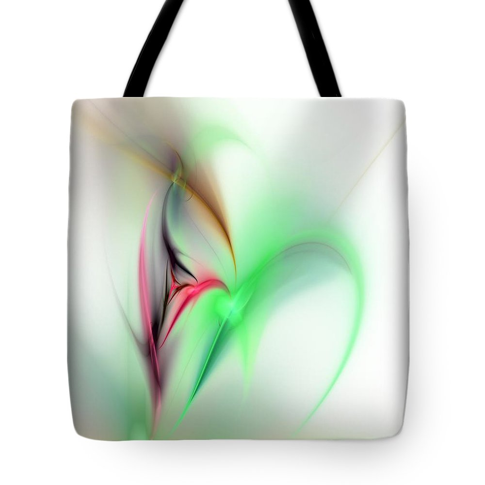 Digital Painting Tote Bag featuring the digital art Abstract Fractal 052810 by David Lane