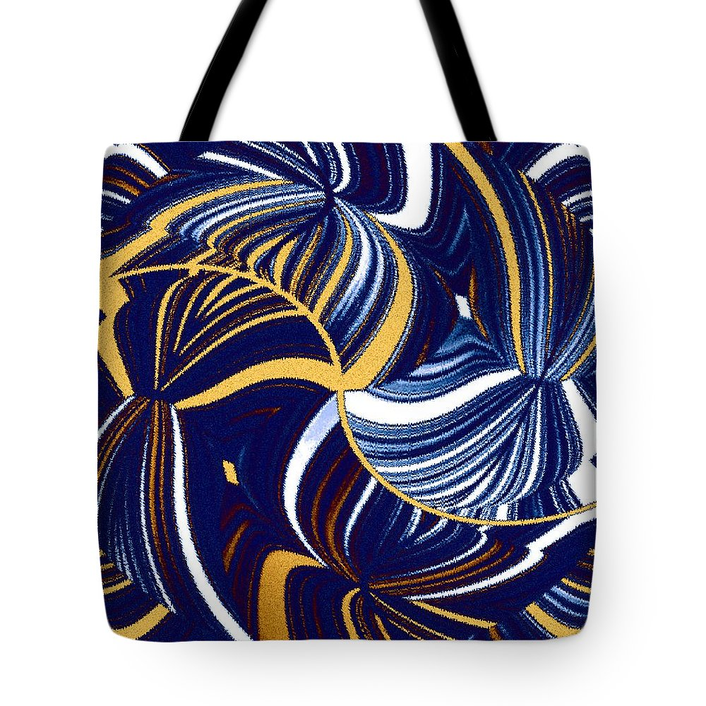 Abstract Tote Bag featuring the digital art Abstract Fusion 279 by Will Borden
